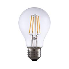 tanie Dekorativní osvětlení-GMY® 1 szt. 4 W 350 lm E26 / E27 Żarówka dekoracyjna LED A19 4 Koraliki LED COB Dekoracyjna Ciepła biel 120 V