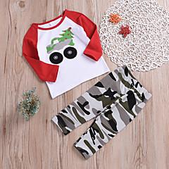 economico Abbigliamento per neonati Per bambino-Bambino Da ragazzo Essenziale Quotidiano / Scuola Con stampe Con stampe Manica lunga Standard Cotone Completo Bianco