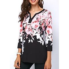 女性用 Tシャツ ベーシック 幾何学模様