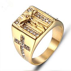 Ανδρικά Ρετρό Δαχτυλίδι Τιτάνιο Ατσάλι Μοντέρνα Μοδάτο Δαχτυλίδι Κοσμήματα  Χρυσό Για Δώρο Καθημερινά 2eff9b1f104