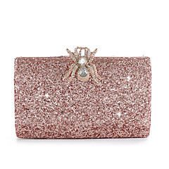 cheap Bags-Women's Bags Alloy Evening Bag Buttons / Crystals Solid Color Champagne