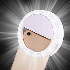 olcso Dekorativna rasvjeta-1db hordozható klip selfie lámpa mobiltelefon kör gyűrű flash objektív szépség töltse fény lámpa mobiltelefon okostelefon