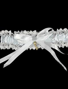 Χαμηλού Κόστους Ξεπούλημα Αξεσουάρ-Δαντέλα Σατέν Κλασσικό Γάμος Garter  -  Φιόγκος Κορδέλα Καλτσοδέτες