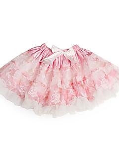 A-line prinsesse knelengde blomst jente kjole - tulle charmeuse ermeløs med ruffles