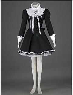 billiga Lolitaklänningar-Gotisk Lolita Prinsessa Punk Dam Klänningar Cosplay Långärmad Medium längd