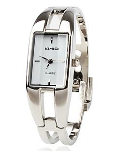 Damen Modeuhr Armband-Uhr Quartz Legierung Band Armreif Silber
