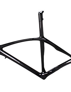 700C Full Carbon Feather Light Road Bike Frame with Integrated Seatpost Natural Color