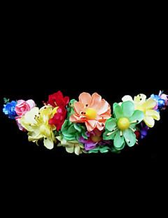 Χαμηλού Κόστους Ξεπούλημα Αξεσουάρ-Κρύσταλλο / Ύφασμα / Χαρτί Τιάρες / Λουλούδια με 1 Γάμου / Ειδική Περίσταση / Πάρτι / Βράδυ Headpiece