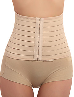 cheap Corsets-Women's Hook & Eye Waist Cincher Underbust Corset-Solid