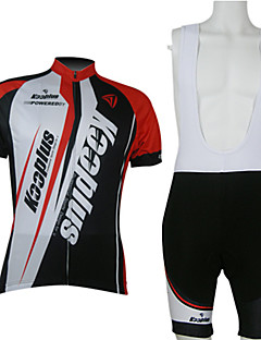 cheap Cycling Jersey & Shorts / Pants Sets-Kooplus Men's Short Sleeves Cycling Jersey with Bib Shorts - Red/White Bike Clothing Suits, Quick Dry, Breathable