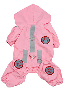 levne Oblečení pro psy-Pes Pláštěnka Oblečení pro psy Jednobarevné Růžová Nylon Kostým Pro domácí mazlíčky Pánské Dámské Voděodolný