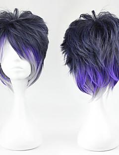 billige Videospill cosplay-Cosplay Parykker Cosplay Sakamaki Renji Purple Kort Anime / Videospil Cosplay Parykker 32 CM Varmeresistent Fiber Mann