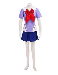 baratos Cosplay Anime-Inspirado por Fantasias Fantasias Anime Fantasias de Cosplay Ternos de Cosplay / Uniformes Escolares Retalhos Manga Curta Blusa / Saia Para Mulheres