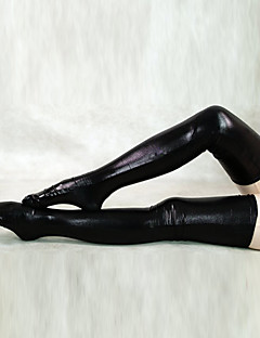 billige Zentai-Sokker og Strømpebukser Ninja Zentai Cosplay-kostymer Ensfarget Strømper Spandex Herre Dame Halloween