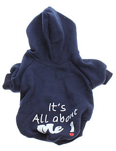 Dog Hoodie Dog Clothes Fashion Letter & Number Blue