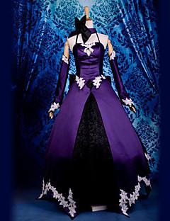 baratos Fantasias de Vídeo Game-Inspirado por Fate/zero Saber Lily Vídeo Jogo Fantasias de Cosplay Ternos de Cosplay Patchwork Blusa