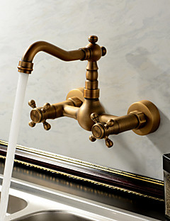 Sprinkle Kitchen Faucets Antique Traditional Br Waterfall Two Holes