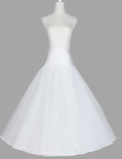 Wedding Special Occasion Slips Tulle Netting Organza Taffeta Floor-length A-Line Slip With
