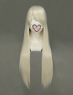 billige Anime cosplay-Cosplay Parykker Chobits Chii Gylden Anime Cosplay-parykker 32 tommers Varmeresistent Fiber Dame Halloween-parykker