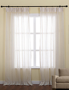 To paneler Window Treatment Neoklassisk , Stripe Polyester Materiale Sheer Gardiner Shades Hjem Dekor For Vindu