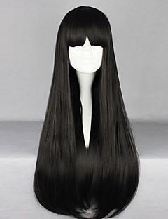 cheap Lolita Wigs-Lolita Wigs Gothic Lolita Dress Black Lolita Lolita Wig 70 CM Cosplay Wigs Solid Wig For