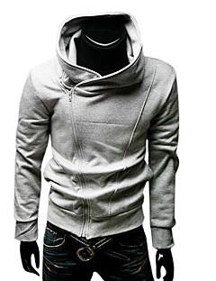 billiga Träning-, jogging- och yogakläder-Herr Track Jacket - Grå sporter Huvtröja / Överdelar Motion & Fitness, Löpning, Gym Långärmad Sportkläder Håller värmen