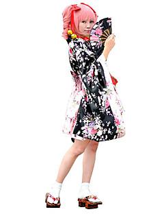 baratos Costumes étnicas e Cultural-Wa Lolita Mulheres Roupa Cosplay Floral Manga Longa Lolita Trajes da Noite das Bruxas