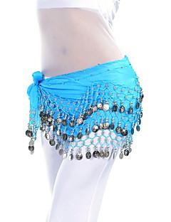 billiga Dansaccessoarer-Magdans Bälte Dam Träning Chiffong Mynt Magdans höftscarf