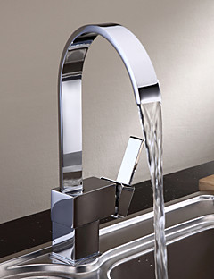 Modern  with  Chrome Single Handle One Hole  ,  Feature  for Centerset