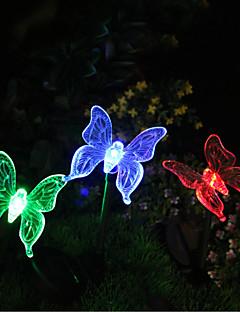 1本の太陽の色を変える蝶の庭のステークライト高品質