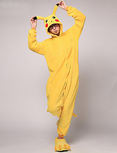 Kigurumi Pyjamas Pika Pika Kostume Korallfleece Kigurumi Trikot / Heldraktskostymer Cosplay Festival / høytid Pysjamas med dyremotiv