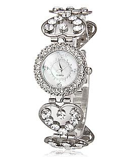 billige Armbåndsure-Dame Quartz Armbåndsur Japansk Imiteret Diamant Legering Bånd Heart Shape Sølv