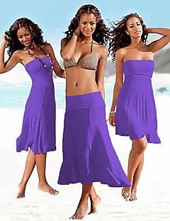 お買い得  レディーススカート-女性用 ビーチ ルーズ ドレス - プリーツ, ソリッド ローライズ ストラップレス