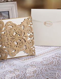 """voordelige Uitnodigingen Aanbiedingen-Poort-Vouw Uitnodigingen van het Huwelijk Uitnodigingskaarten Bloemen Stijl Kunst Papier 6 1/4""""×6 1/4"""" (16*16cm)"""