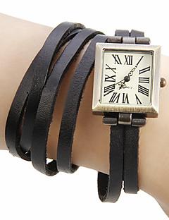 billige Armbåndsure-Dame Armbåndsur Japansk Ægte læder Bånd Bohemisk / Mode Sort / Grøn / Kaki
