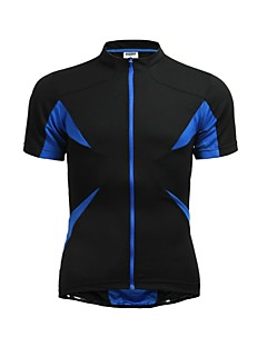 cheap Cycling Jerseys-Jaggad Men's Women's Short Sleeves Cycling Jersey - Black Bike Jersey, Quick Dry, Breathable, Summer, Polyester