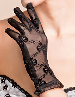 cheap Top Sellers-Lace Polyester Wrist Length Glove Classical Bridal Gloves Party/ Evening Gloves With Solid
