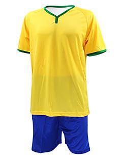 KOOPLUS® לגברים כדורגל מכנסי שורט + חולצה מדים בסטים אביב קיץ סתיו קלאסי פוליאסטר כדורגל צהוב