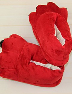 billige Kigurumi-Voksne Kigurumi-tøfler Rev Onesie-pysjamas Kostume polyester / Bomull Rød Cosplay Til Pysjamas med dyremotiv Tegnefilm Halloween Festival / høytid