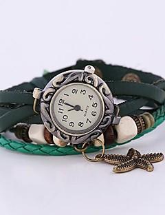 billige Armbåndsure-Dame Quartz Armbåndsur Afslappet Ur Læder Bånd Bohemisk Grøn