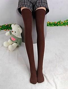Kadın Pamuk Örgü fazla Diz Külotlu çorap Uyluk / Yüksek Çorap / Çorap