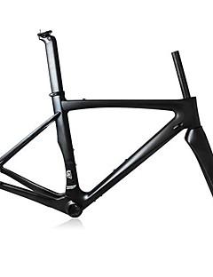 Χαμηλού Κόστους Ποδηλασία-Πλαίσιο Δρόμου Πλήρες Carbon Ποδήλατο Κορνίζα 700C Γυαλιστερό 3K γυαλιστερό / 3K ματ cm ίντσα
