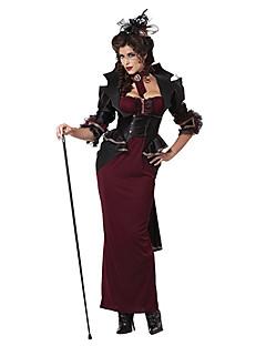 billige Voksenkostymer-Vampyrer Cosplay Kostumer Dame Halloween Karneval Festival / høytid Terylene Drakter Lapper