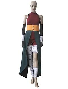 """Inspirert av Naruto Cosplay Anime  """"Cosplay-kostymer"""" Cosplay Klær Fargeblokk Ermeløs Bandasje Vest Topp Bukser Belte Til Kvinnelig"""