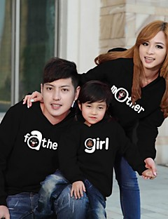 Family's Fashion Joker Leisure Cute Parent Child With Hood Sweatshirts (Random Pattern)