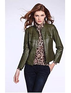 KaKaNi Women's European Fashion Long Sleeve Solid Color Coat