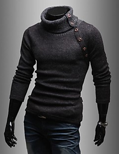 Men 's High Collar Cultivate One's Morality Leisure Solid Color Sweater