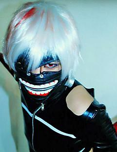Maske Inspirert av Tokyo Ghoul Cosplay Anime Cosplay Tilbehør Maske Svart Lær Mann