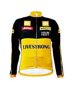 cheap Customized Cycling Clothing-Kooplus Cycling Jersey Men's Women's Unisex Long Sleeves Bike Jersey Top Winter Fleece Bike Wear Thermal / Warm Windproof Fleece Lining