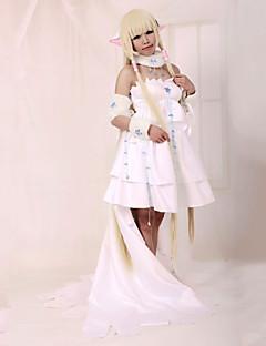 """Inspirert av Tsubasa Chii Anime  """"Cosplay-kostymer"""" Cosplay Klær Kjoler Lapper Langermet Kjole Krage Til Kvinnelig"""